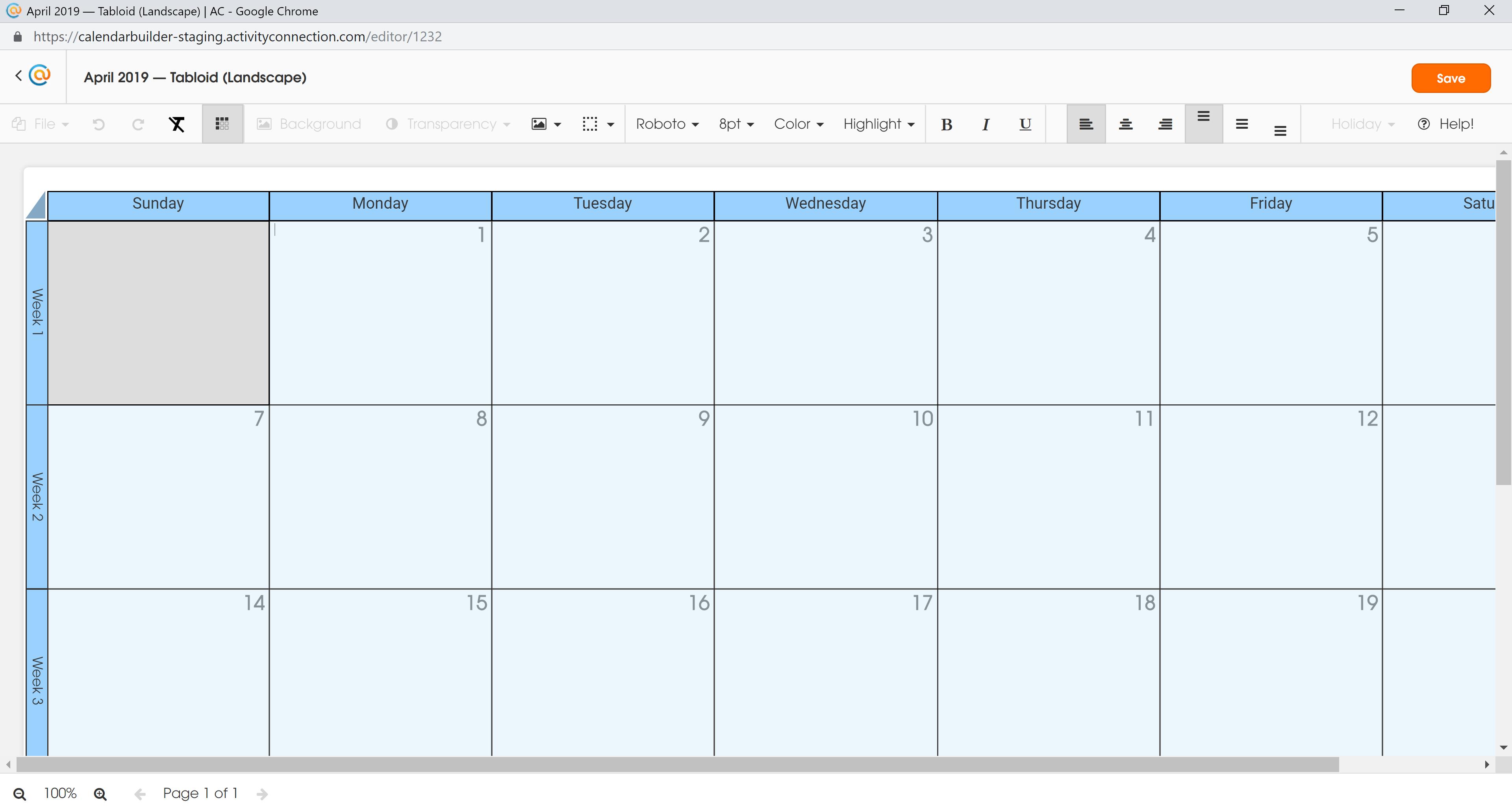 Calendar - All Selected