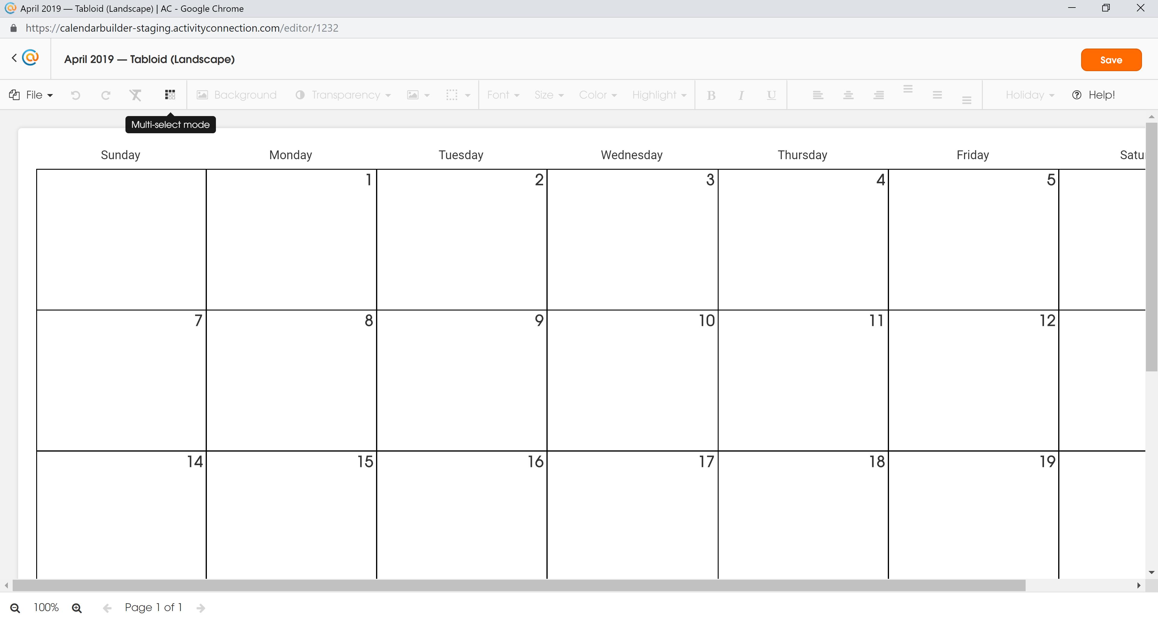 Calendar - Hover MS