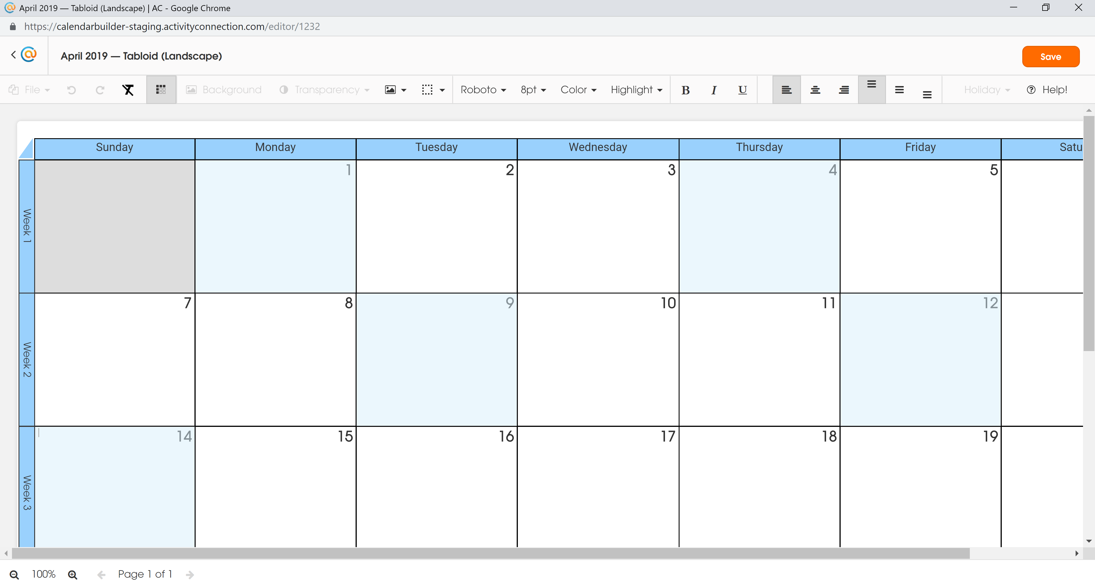 Calendar - Random Selected